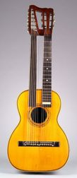 American Harp Guitar, possibly J.W. Jenkins Company, Kansas City, c. 1895